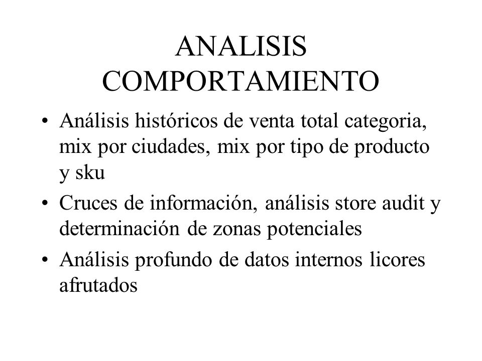 ANALISIS COMPORTAMIENTO