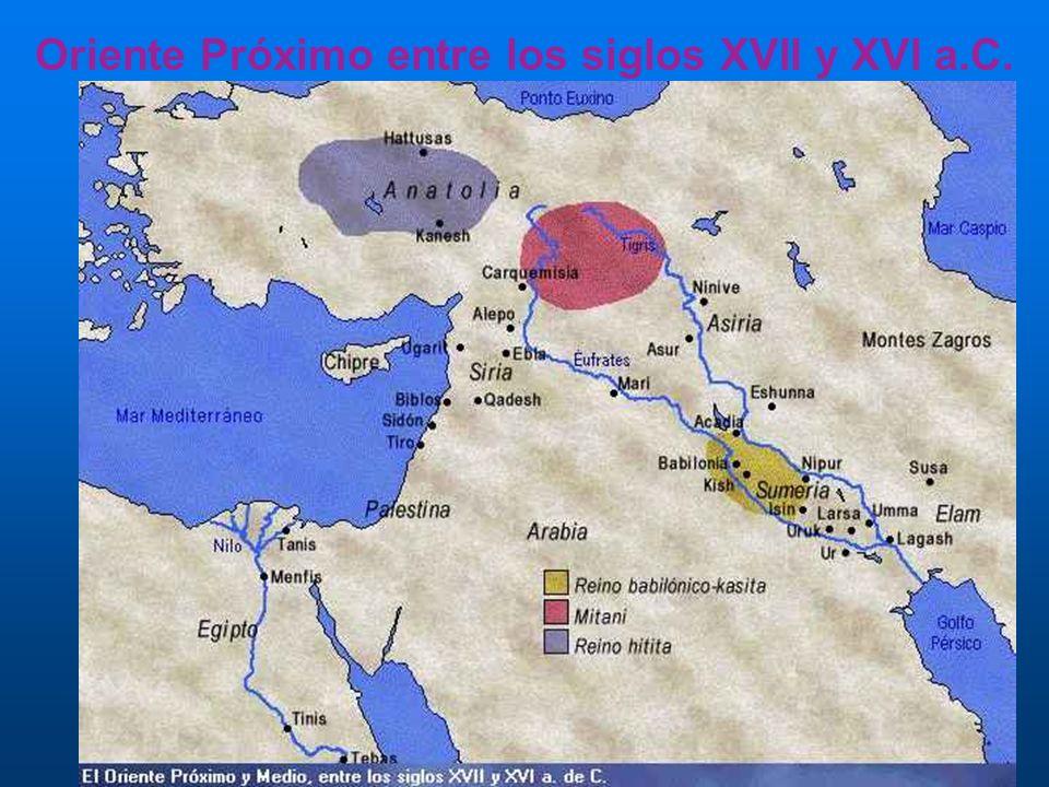 Oriente Próximo entre los siglos XVII y XVI a.C.
