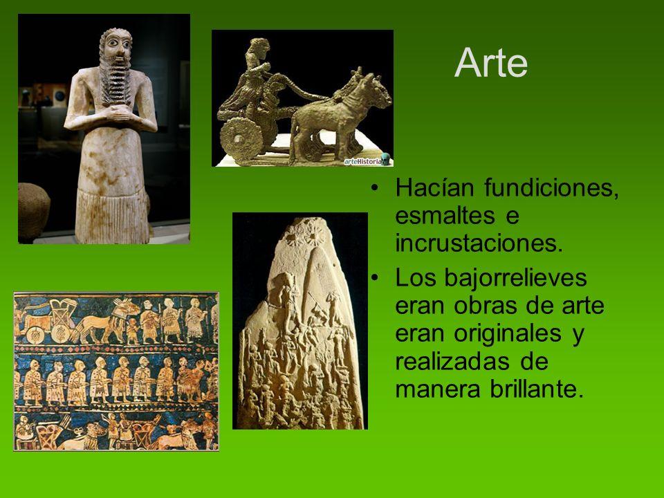 Arte Hacían fundiciones, esmaltes e incrustaciones.