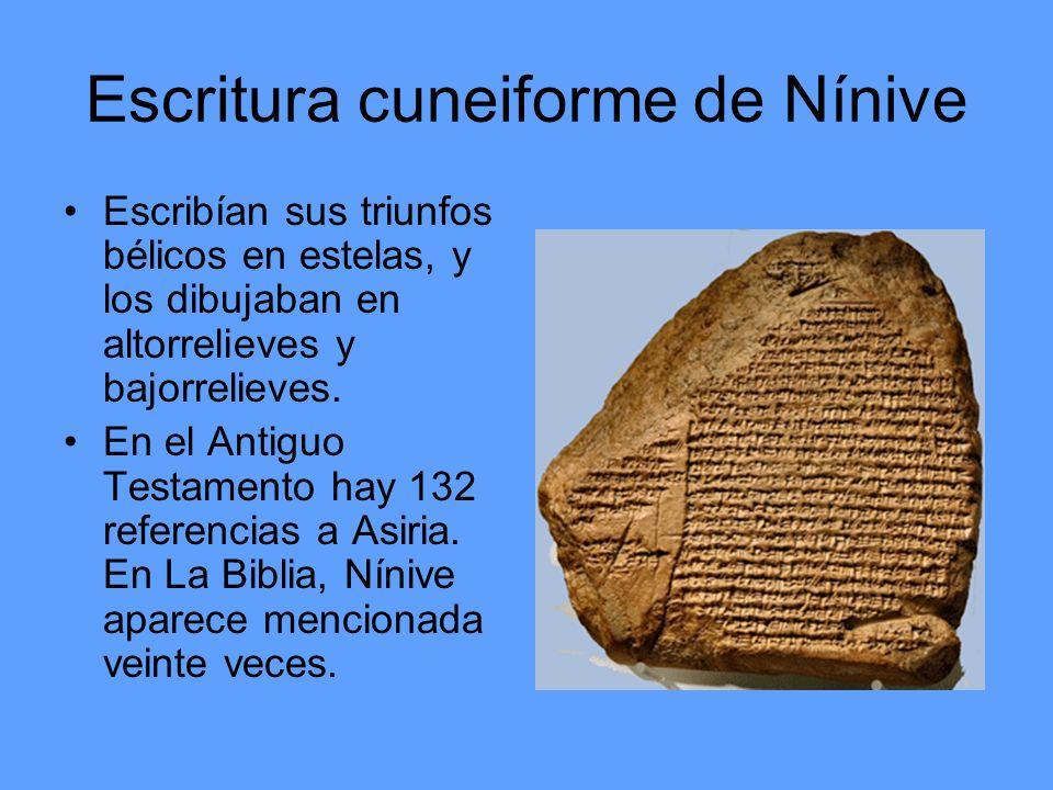 Escritura cuneiforme de Nínive
