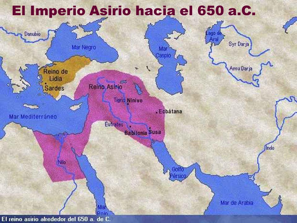 El Imperio Asirio hacia el 650 a.C.