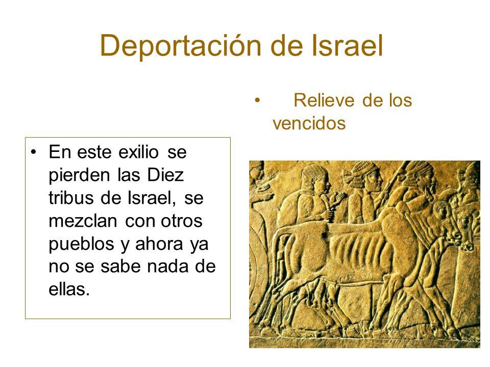Deportación de Israel Relieve de los vencidos