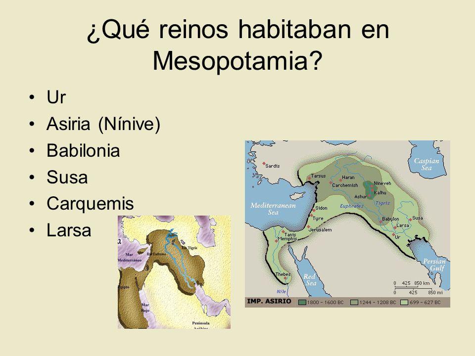 ¿Qué reinos habitaban en Mesopotamia