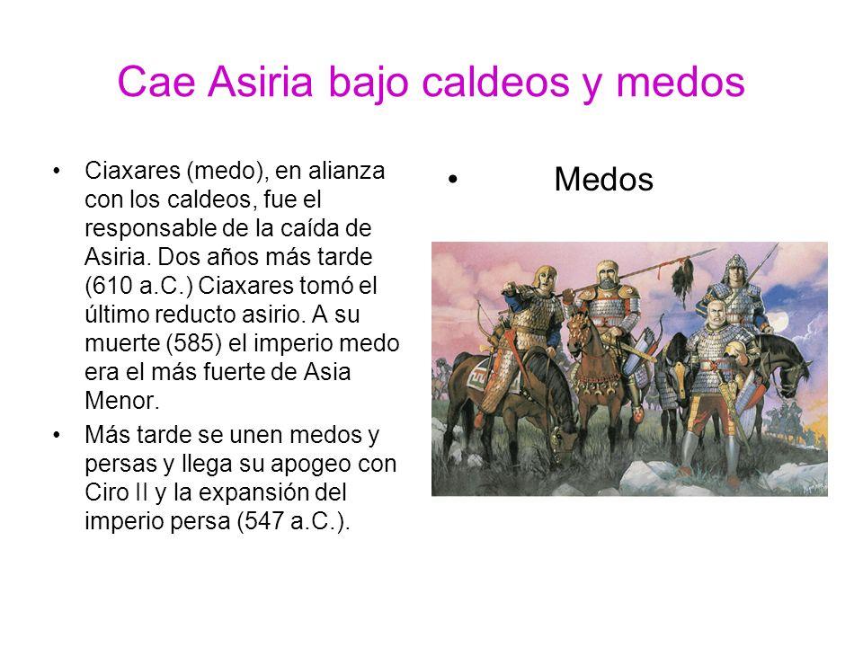 Cae Asiria bajo caldeos y medos