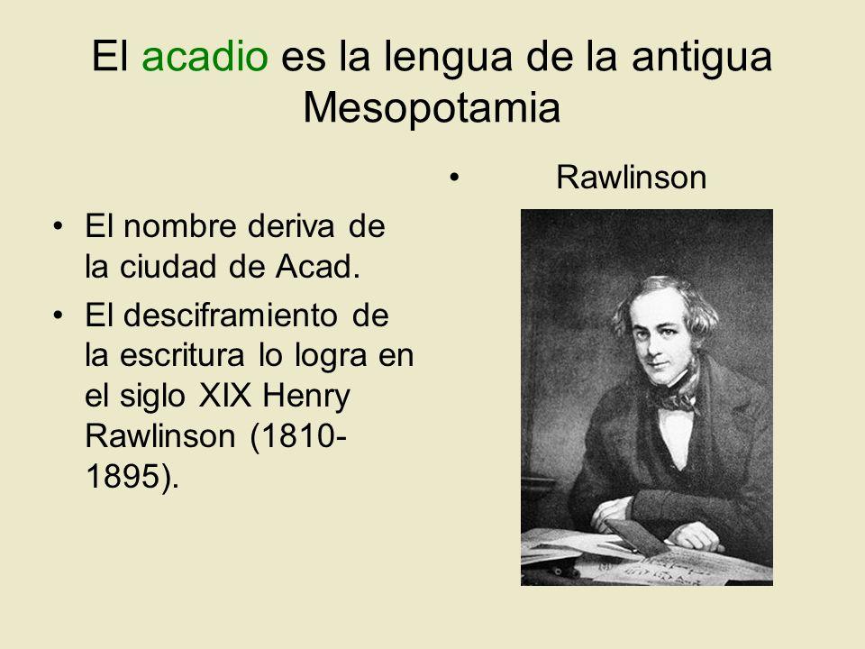 El acadio es la lengua de la antigua Mesopotamia