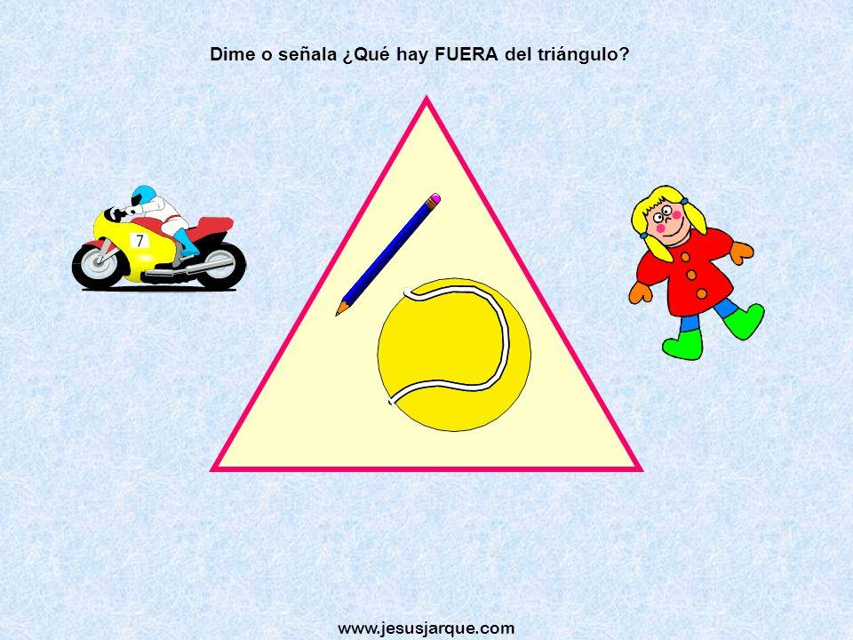 Dime o señala ¿Qué hay FUERA del triángulo