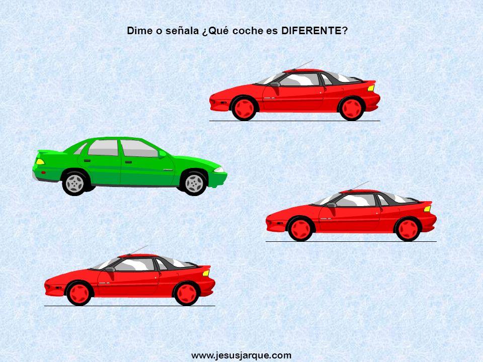 Dime o señala ¿Qué coche es DIFERENTE
