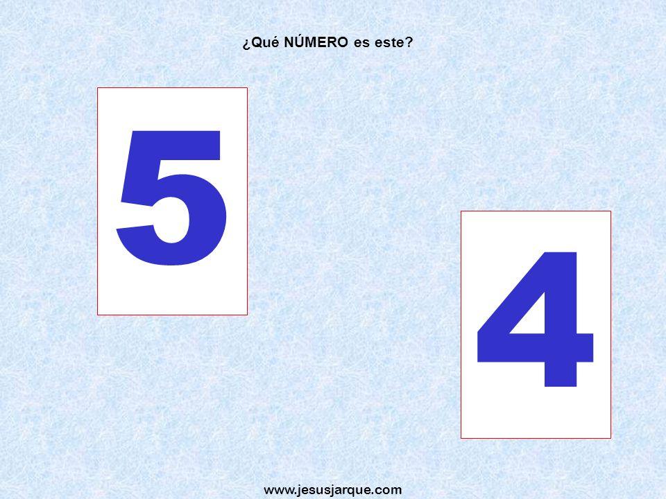 ¿Qué NÚMERO es este 5 4 www.jesusjarque.com