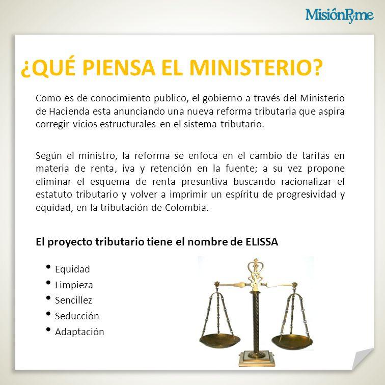 ¿QUÉ PIENSA EL MINISTERIO