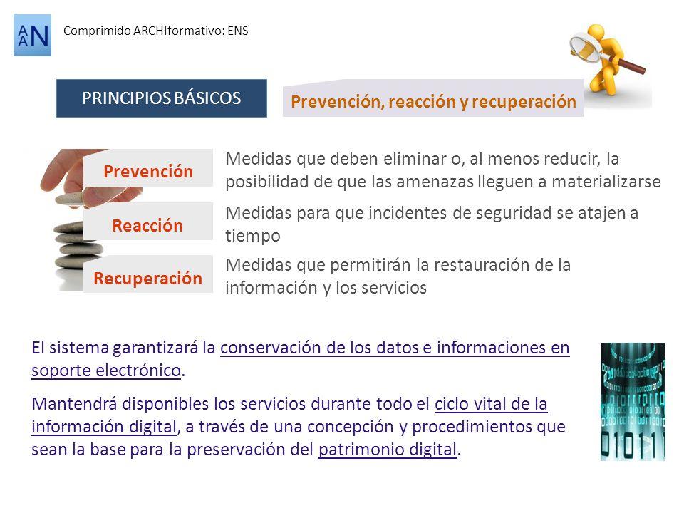 Prevención, reacción y recuperación