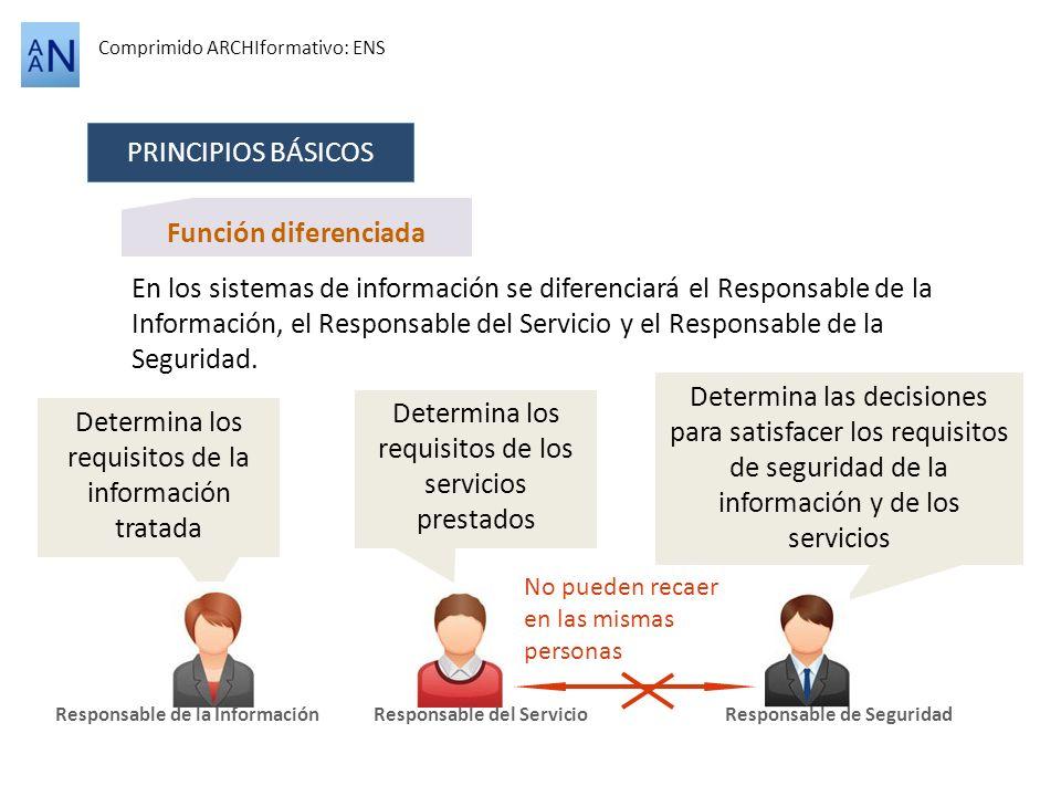Determina los requisitos de los servicios prestados