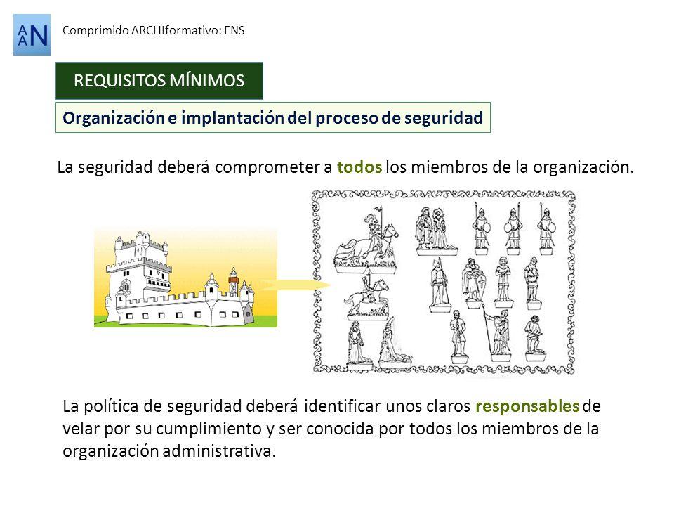 Organización e implantación del proceso de seguridad