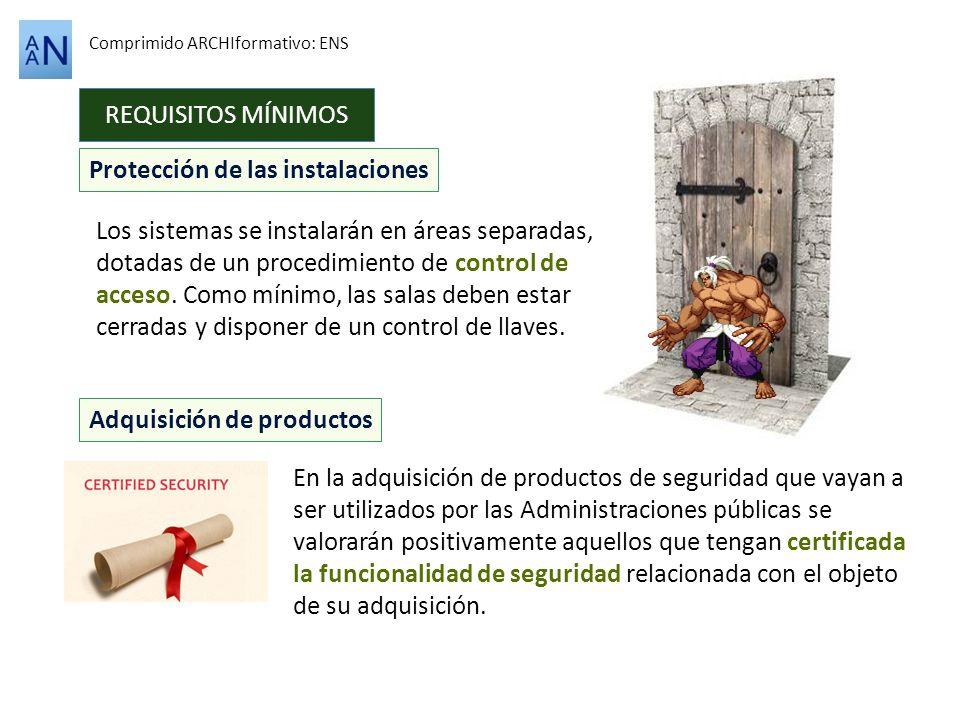 Protección de las instalaciones