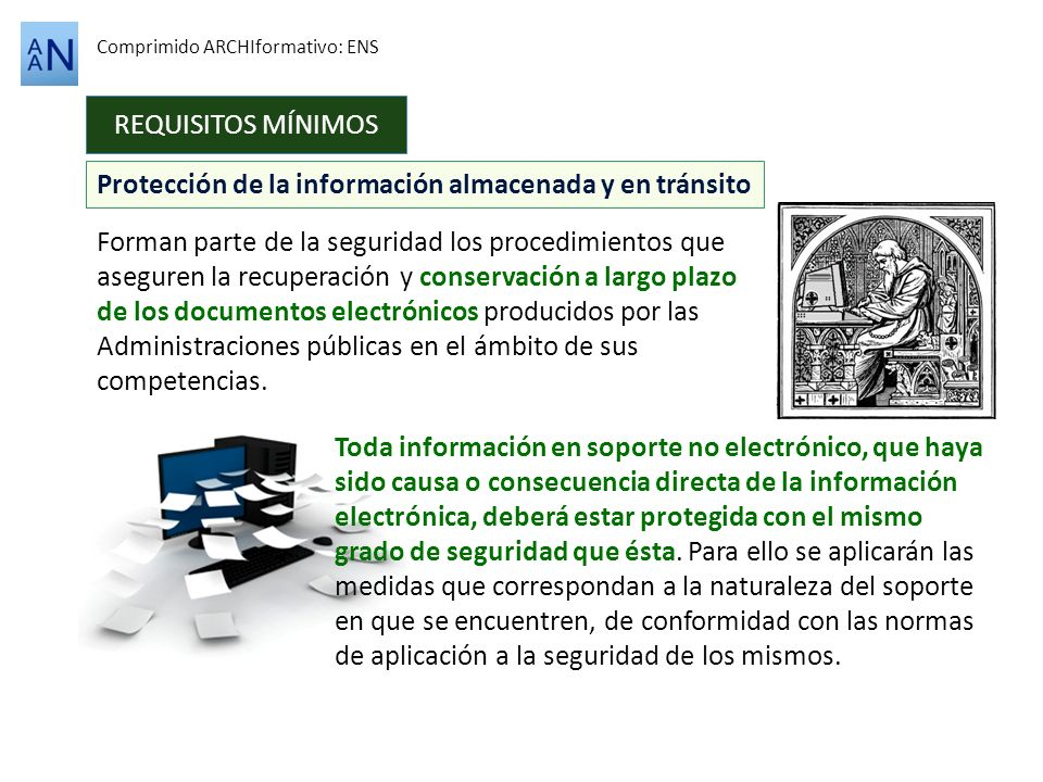 Protección de la información almacenada y en tránsito
