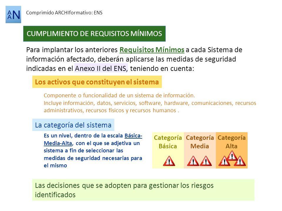 CUMPLIMIENTO DE REQUISITOS MÍNIMOS
