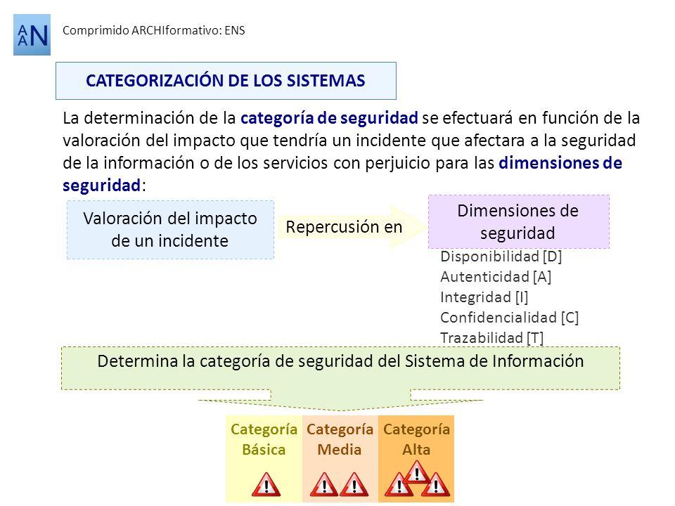 CATEGORIZACIÓN DE LOS SISTEMAS