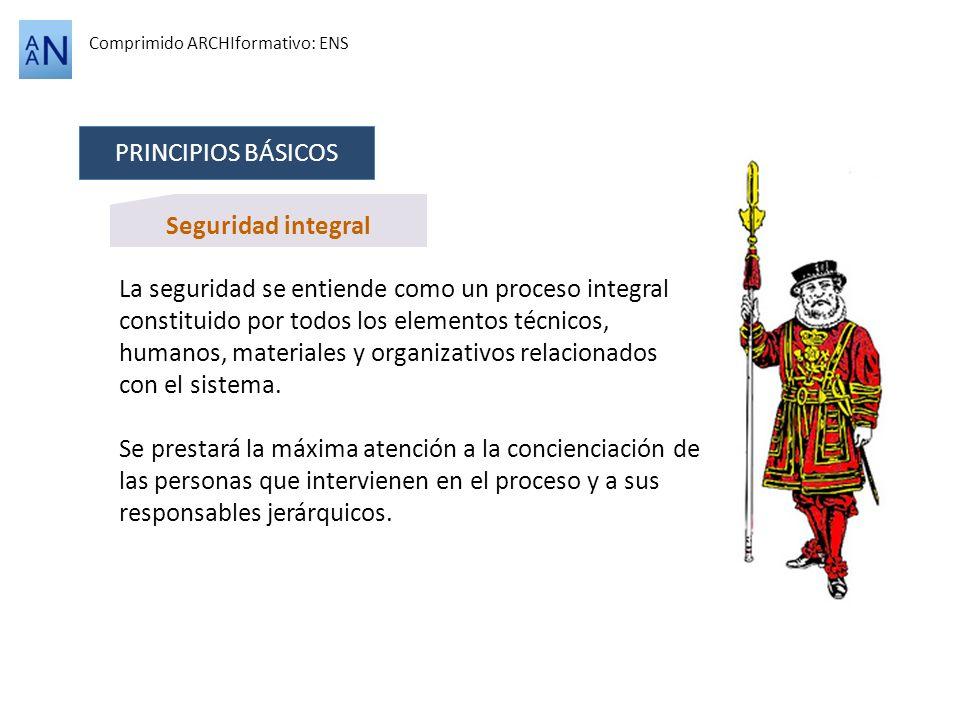 PRINCIPIOS BÁSICOS Seguridad integral
