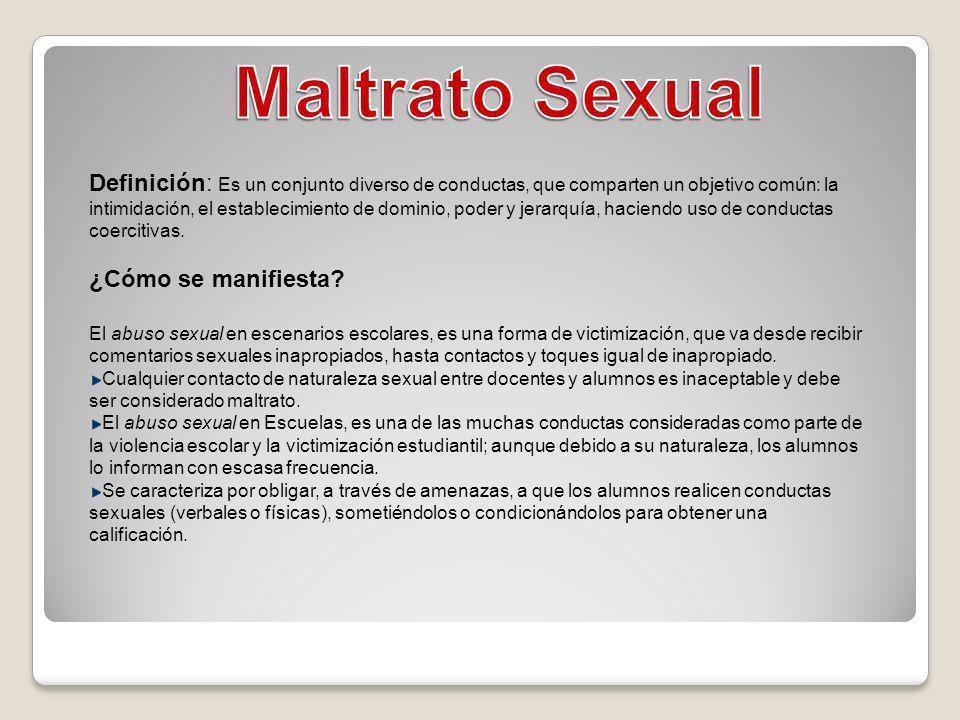 Maltrato Sexual