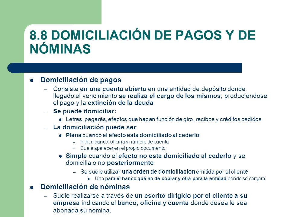 Unidad 8 medios interiores de pago ppt video online for Oficina abierta definicion