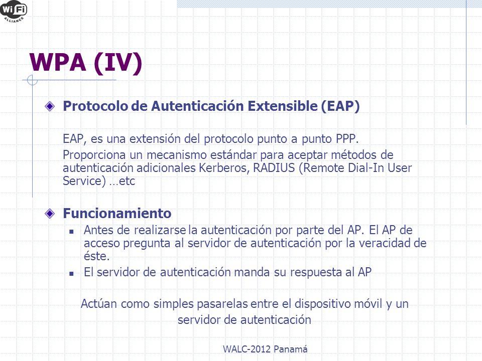 WPA (IV) Protocolo de Autenticación Extensible (EAP) Funcionamiento