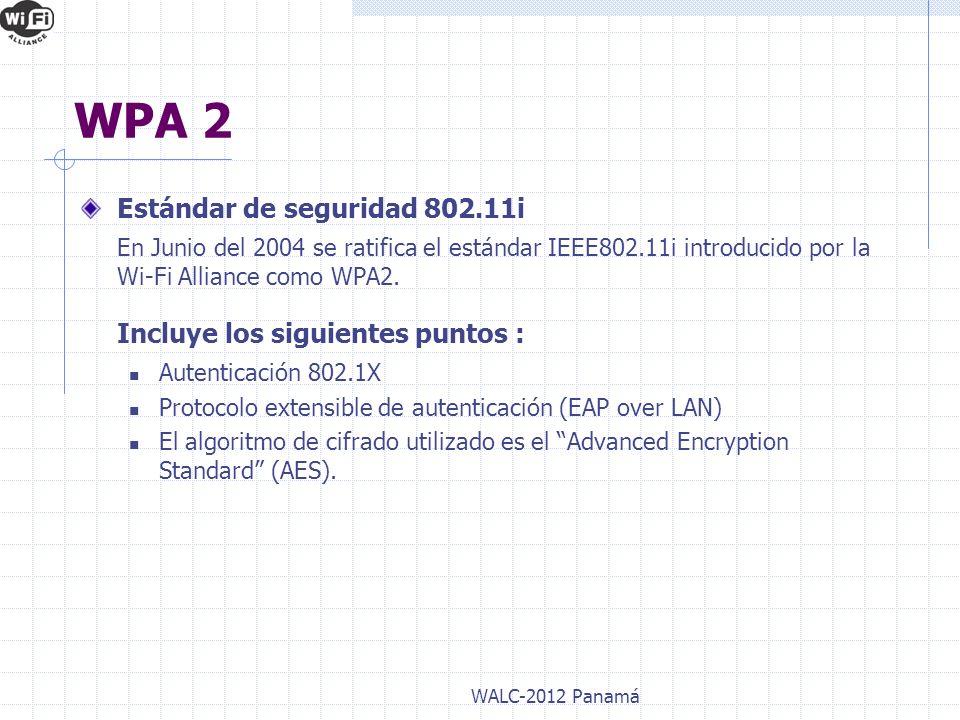 WPA 2 Estándar de seguridad 802.11i