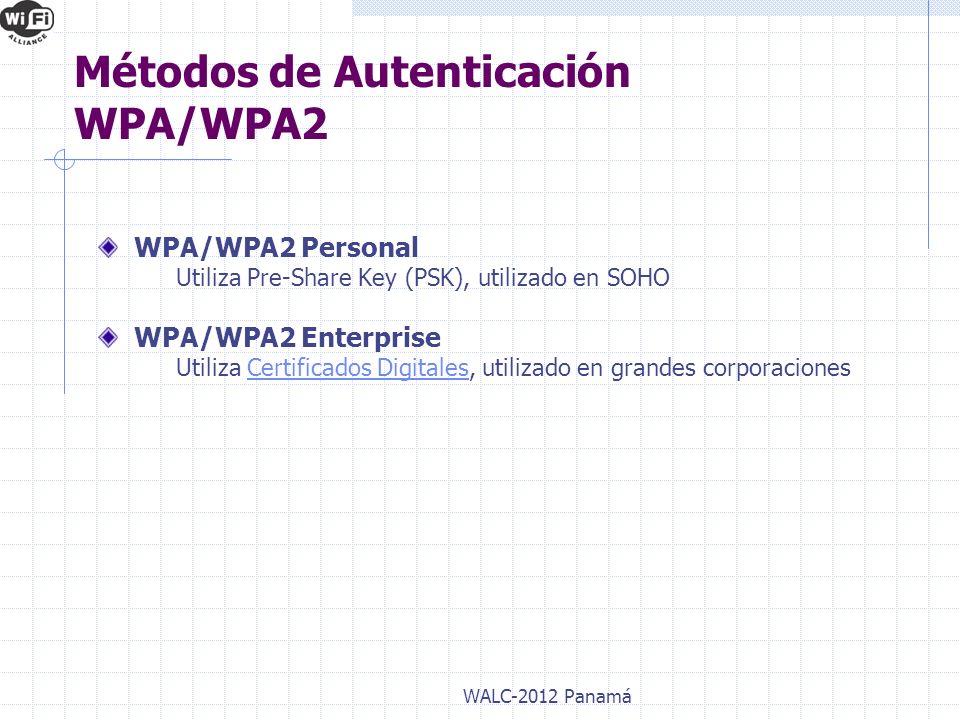 Métodos de Autenticación WPA/WPA2