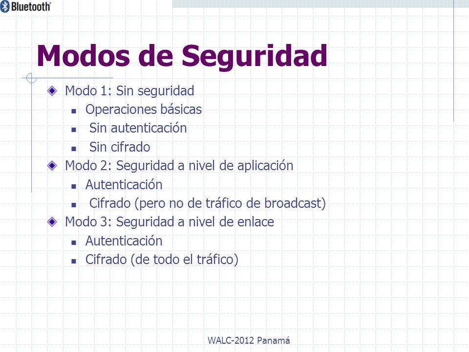 Modos de Seguridad Modo 1: Sin seguridad Operaciones básicas