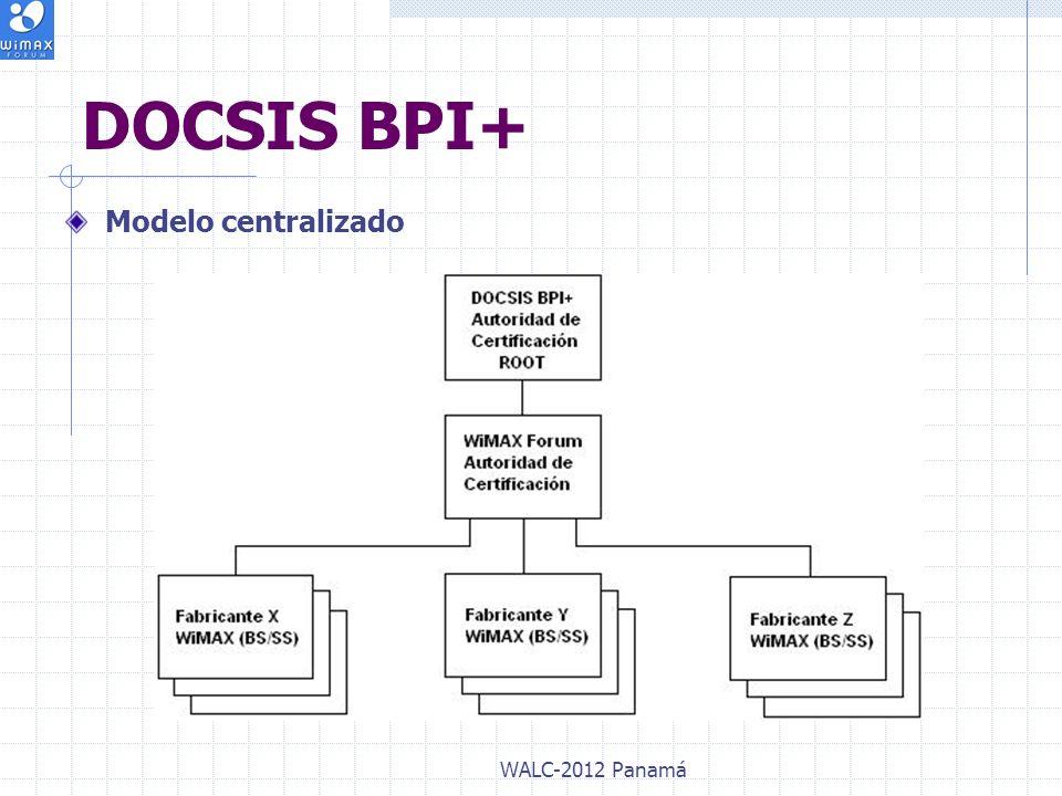 DOCSIS BPI+ Modelo centralizado WALC-2012 Panamá