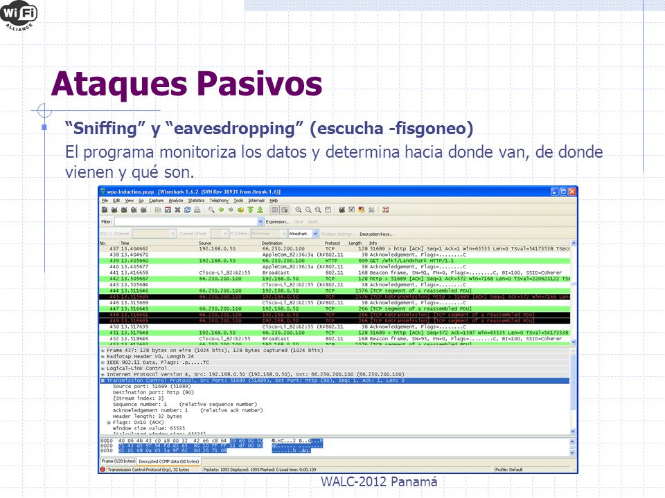 Ataques Pasivos Sniffing y eavesdropping (escucha -fisgoneo)