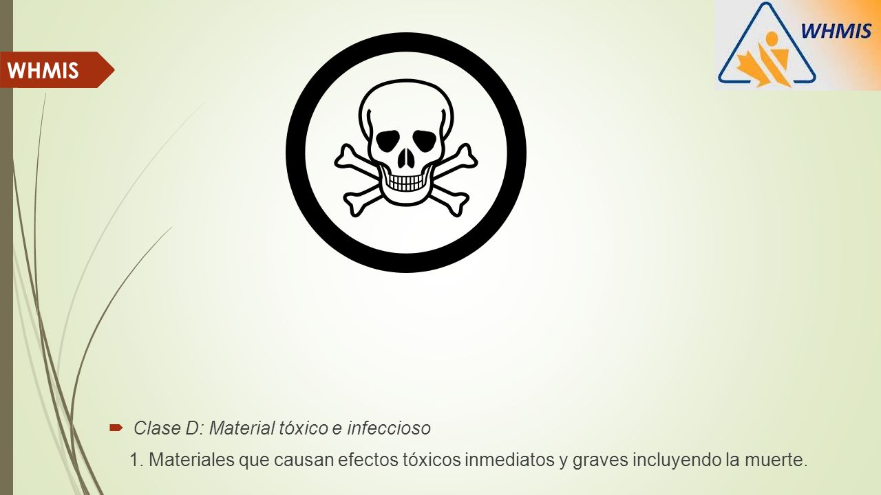 WHMIS Clase D: Material tóxico e infeccioso