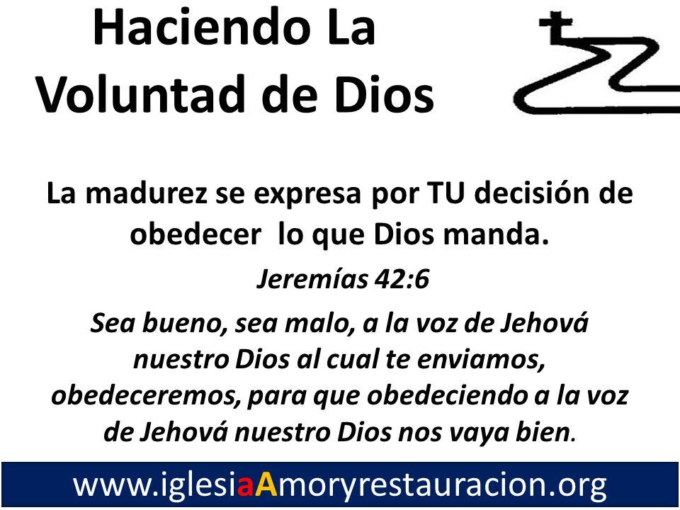 Haciendo La Voluntad de Dios