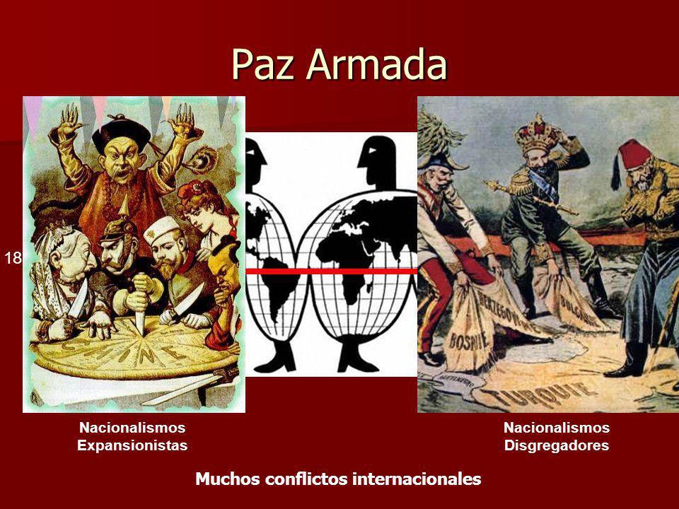 Paz Armada 1870 1914 Muchos conflictos internacionales Nacionalismos