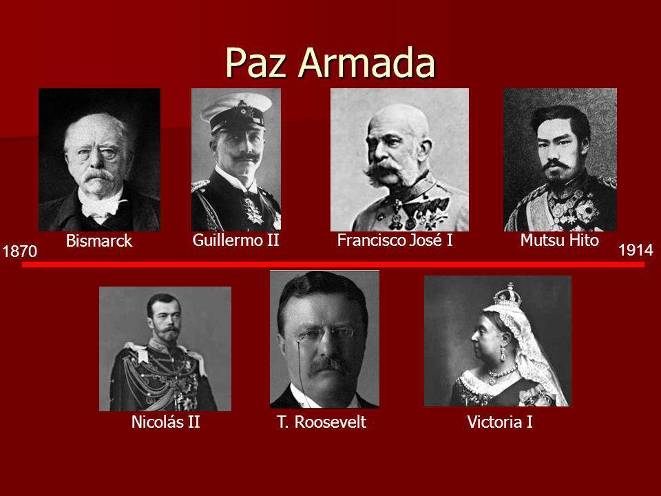 Paz Armada Bismarck Guillermo II Francisco José I Mutsu Hito 1870 1914