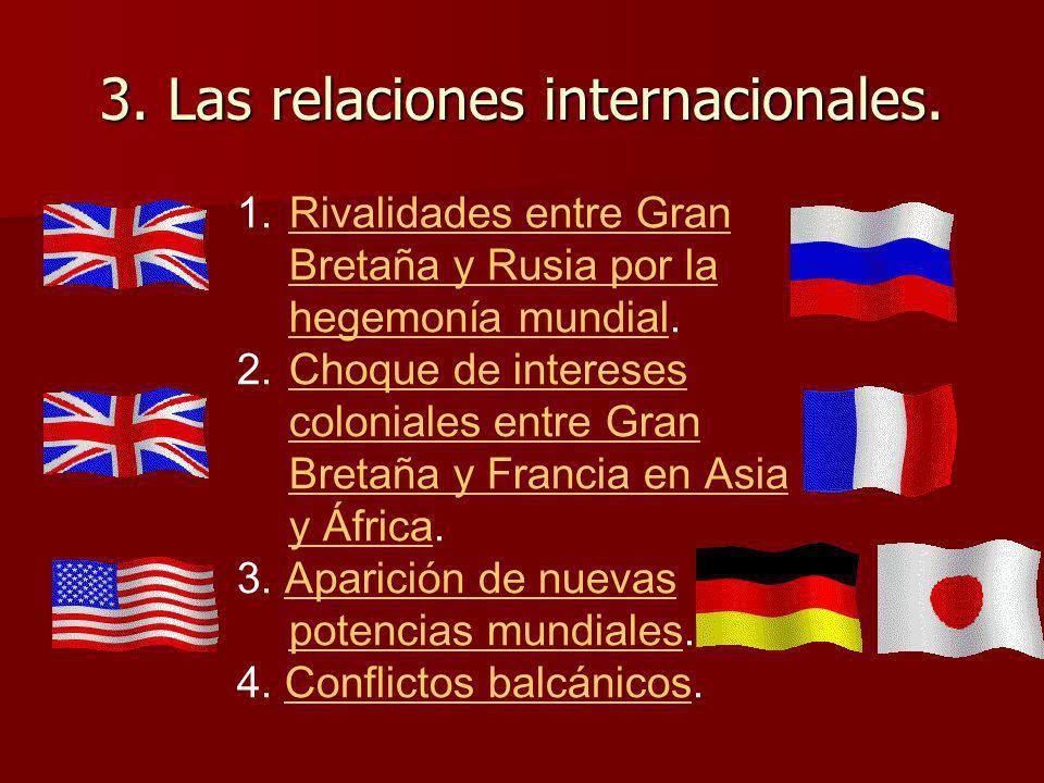 3. Las relaciones internacionales.