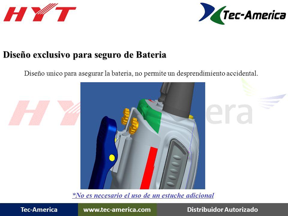 Diseño exclusivo para seguro de Bateria