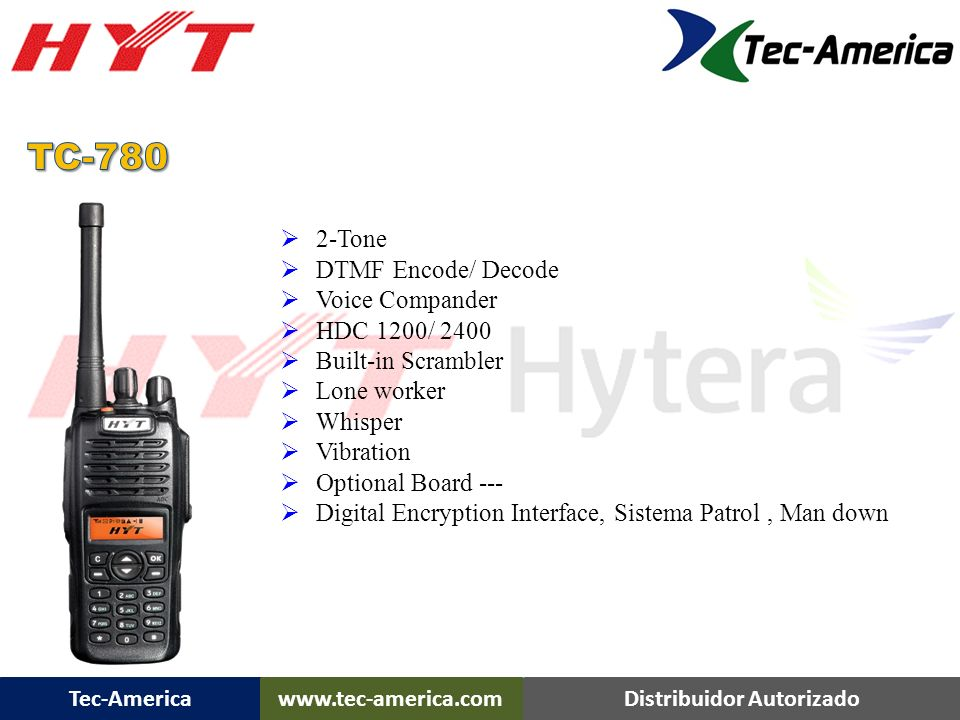 TC-780 TC-780 Overview 2-Tone DTMF Encode/ Decode Voice Compander
