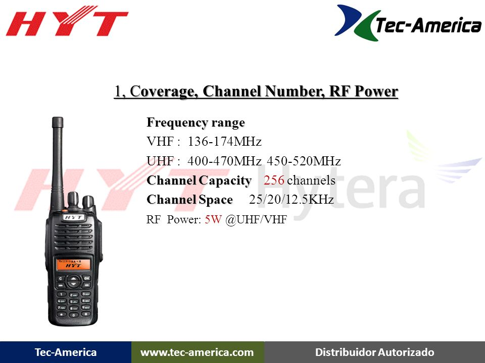 1, Coverage, Channel Number, RF Power