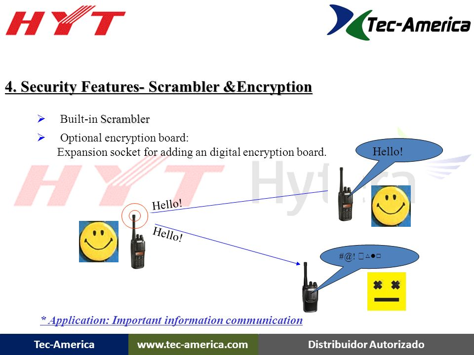 4. Security Features- Scrambler &Encryption