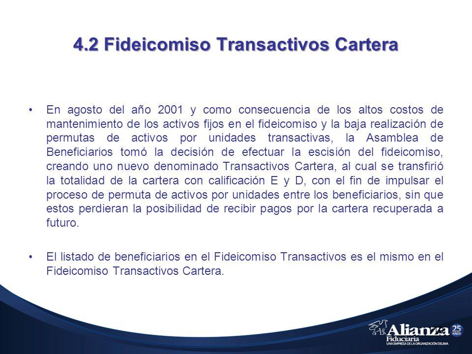 4.2 Fideicomiso Transactivos Cartera