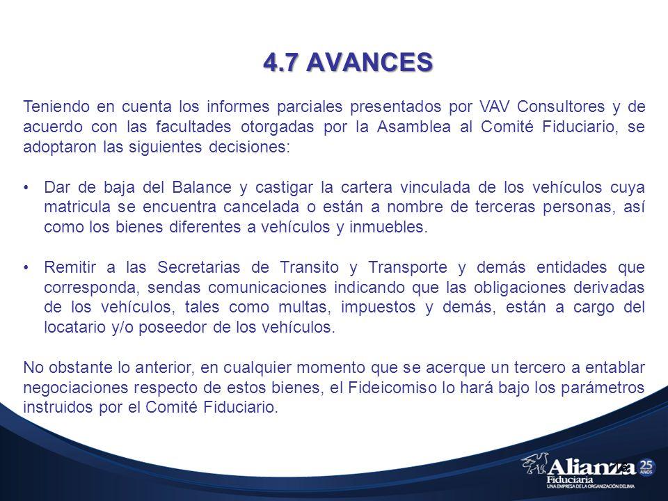 4.7 AVANCES