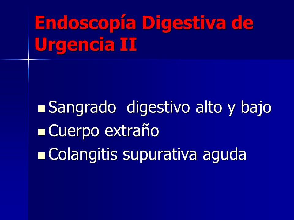 Endoscopía Digestiva de Urgencia II