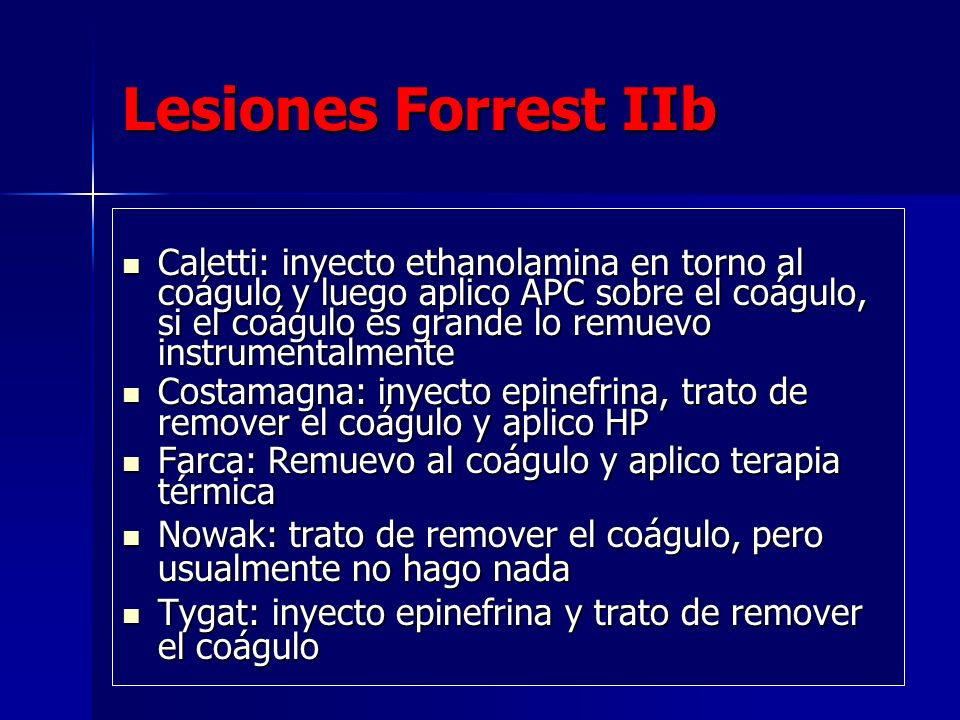 Lesiones Forrest IIb