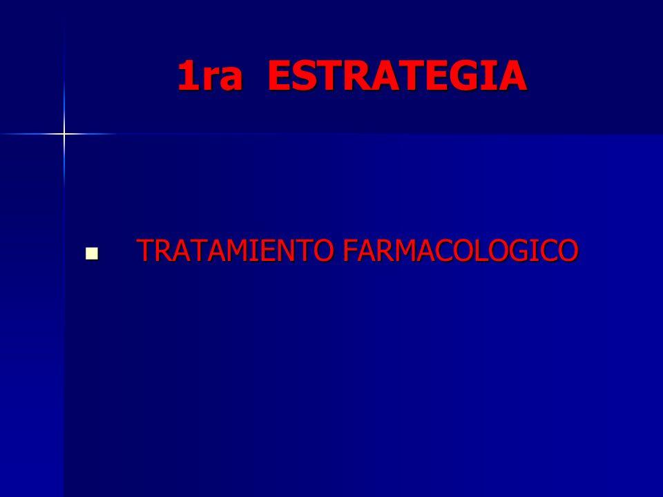 1ra ESTRATEGIA TRATAMIENTO FARMACOLOGICO
