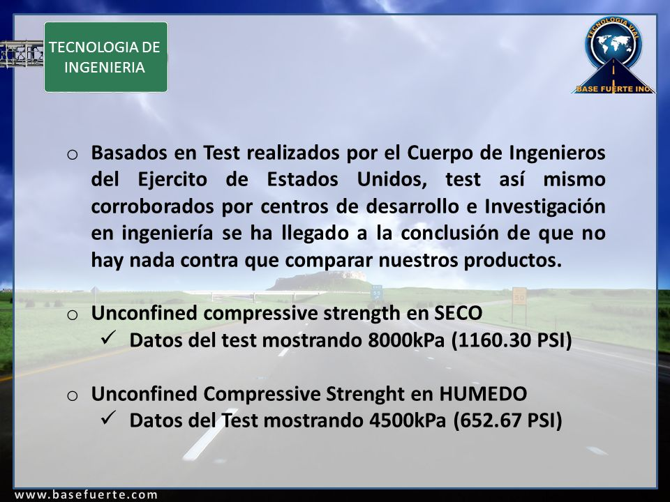 Unconfined compressive strength en SECO