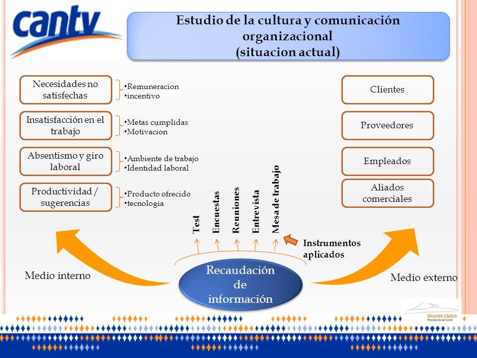 Estudio de la cultura y comunicación organizacional