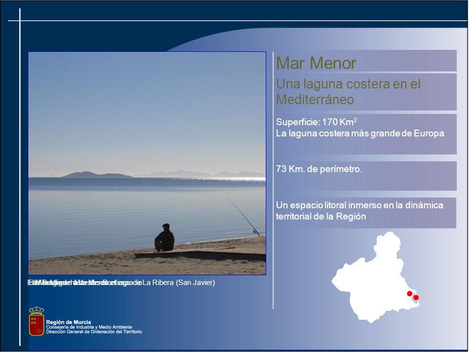 Mar Menor Una laguna costera en el Mediterráneo Superficie: 170 Km2