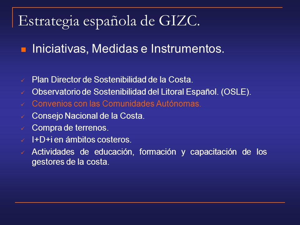 Estrategia española de GIZC.