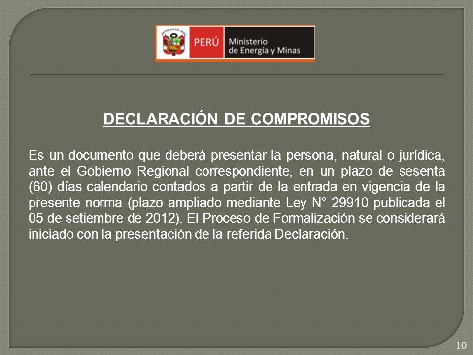 DECLARACIÓN DE COMPROMISOS