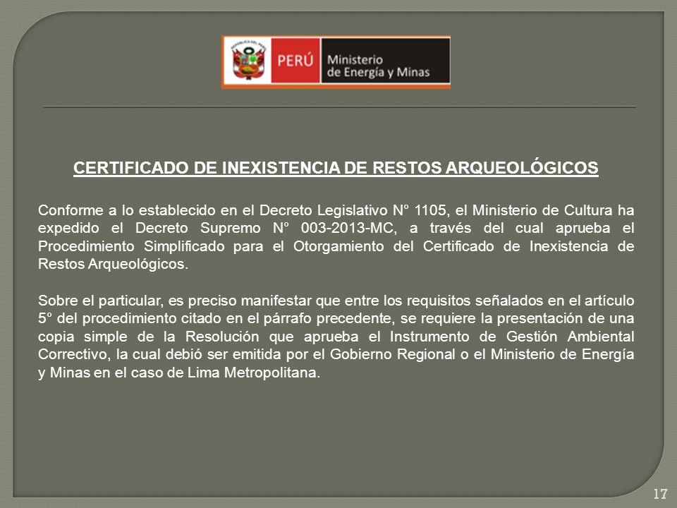 CERTIFICADO DE INEXISTENCIA DE RESTOS ARQUEOLÓGICOS