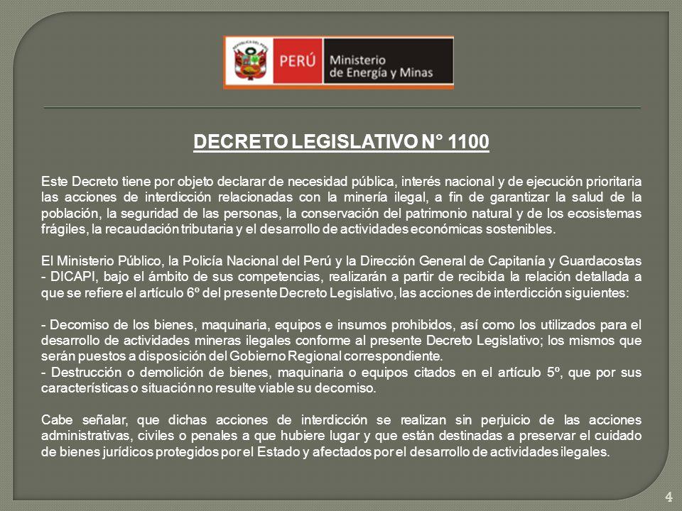 DECRETO LEGISLATIVO N° 1100